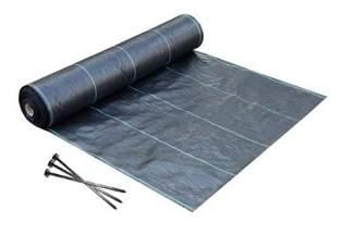 Agrotkanina czarna 1,6x100m (70g) + Kołki 19 cm (50 szt)
