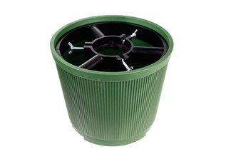 Duży stojak choinkowy z mocnego tworzywa, zielony 10 litrów