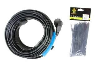 Kabel grzewczy 14m z energooszczędnym termostatem 34259 + opaski kablowe Gratis!