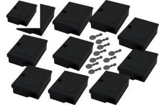 Karmnik deratyzacyjny na myszy MOUSE BOX 10szt + 10szt kluczyków