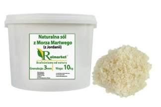 Naturalna, nieoczyszczona sól z Morza Martwego (z Jordanii) 3mm, gruboziarnista 10kg wiaderko