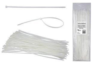 Opaski kablowe białe 2,5x200mm (100 szt.)