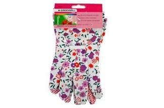 Rękawice z dzianiny nakrapiane ogrodowe dla kobiet GR0044 (1 para)