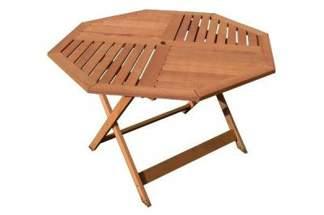 Stół ogrodowy drewniany ośmiokątny z drewna egzotycznego, model 88253 VILLA TOSCANA