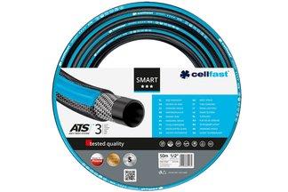 """Wąż ogrodowy Smart ATS 1/2"""" 50 m Cellfast + dysza zraszająca oraz przyłącze na kran"""