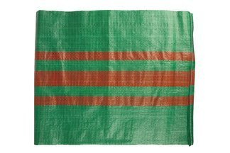 Worek polipropylenowy 50kg zielony z 3 czerwonymi paskami, 65x105cm (1000 szt.)