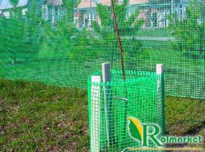 Siatka rabatowa 0,8x25m zielona