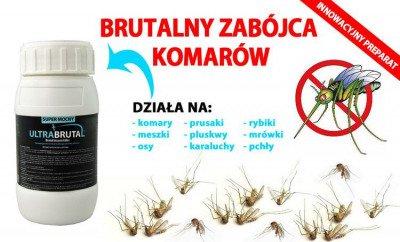 Innowacyjny preparat na komary Ultra Brutal™ 250 ml + utrwalacz do oprysku 250 ml + Mugga