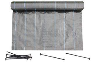 Agrotkanina czarna Agritella 2,7x50m 90g + szpilki 50szt