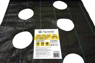 Agrotkanina czarna z otworami Agritella 0,8x20m 90g
