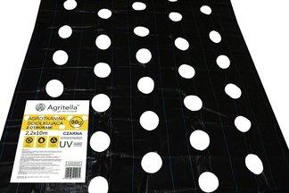 Agrotkanina czarna z otworami Agritella 2,2x10m 90g