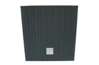 Doniczka dekoracyjna DRTS 400L o strukturze ratanu - kolor antracyt, wysokość 40,5 cm
