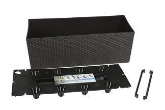 Doniczka dekoracyjna RATO DRTC500 CASE z systemem nawadniającym, umbra, długość 51cm
