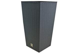 Doniczka dekoracyjna o strukturze ratanu RATO DRTS 400 z wkładem wewnętrznym, antracyt, wysokość 75cm