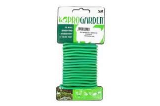 Drut ogrodniczy uniwersalny, zielony, powlekany PCV  5m