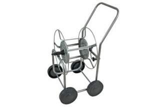 """Duży metalowy 4-kołowy wózek na wąż ogrodowy 1/2"""" 120m Atlas"""