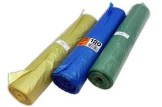 Foliowe worki do segregacji śmieci – mocne worki na śmieci (3 x 25 szt.) 120 litrów