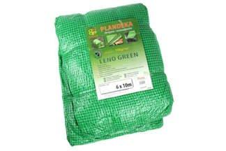 Gruba plandeka zbrojona przezroczysta, zielone nitki 8x10m (100g)