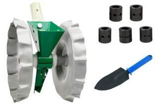 Jednorzędowy, ręczny siewnik punktowy do wysiewu warzyw SR1  + Komplet 5 bębenków siejących do siewnika SR-1 + Gratis łopatka