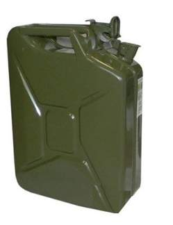 Kanister metalowy na benzynę  20 litrów z uszczelką
