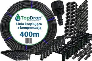 Linia kroplująca ( wąż kroplujący) 400 mb 2l/h 33cm z kompensacją ciśnienia + 300 akcesoriów