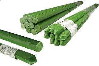 Metalowa tyczka ogrodowa, powlekana PCV do podpierania roślin  1,1cm x 90cm - 10 szt