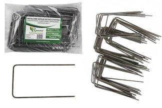 """Metalowe szpilki do mocowania agrotkaniny, agrowłókniny i geowłókniny, model """"U"""" 15cm - (100 szt.)"""
