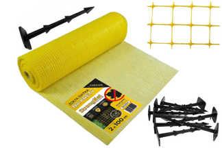 Najmocniejsza siatka przeciw kretom StrongNet - włoska (siatka na krety), oczko 15x19, kolor żółty 2x100m + kołki mocujące GRATIS