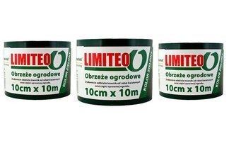 Obrzeże trawnikowe ogrodowe zielone, proste 10cm x 30m LIMITEO