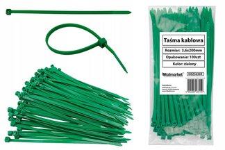 Opaski kablowe czarne 3,6x200 mm (100 szt.)