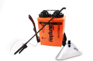 Opryskiwacz plecakowy z manometrem i osłoną herbicydową Kwazar Neptun 15L