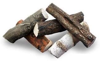 Polana ceramiczne do biokominków 5 sztuk – zestaw D (polskie drzewa)