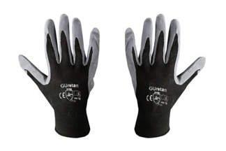 Rękawice robocze nylonowe 10 czarne (1 para)