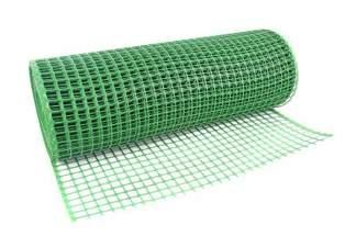 Siatka rabatowa wzmacniana (kontenerowa, ogrodzeniowa) 0,8x25 m zielona K08