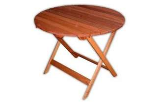 Stół drewniany okrągły składany 88173