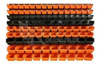 Tablica warsztatowa z plastikowymi kuwetami i uchwytami na narzędzia 117 elementów