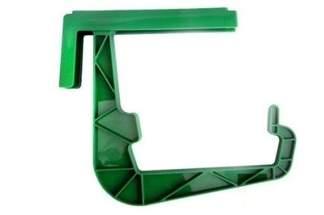 Uchwyt plastikowy do skrzynki balkonowej – 1 sztuka, kolor zielony