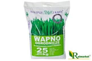 Wapno ogrodnicze do odkwaszania gleby i trawnika 25 kg – Najlepsze Trawy z Iławy