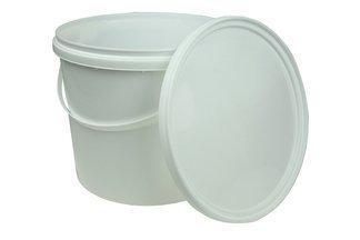 Wiadro plastikowe z pokrywą, wiaderko spożywcze z atestem do żywności 3 litry (50 szt)