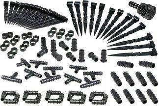 Zestaw 100 sztuk akcesoriów do linii kroplujących