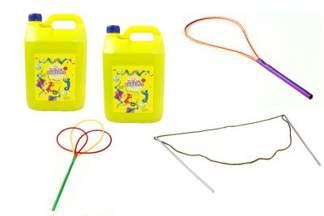Zestaw TUBAN z płynem do dużych baniek mydlanych 10L + obręcze + sznurek