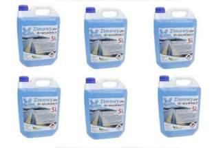 Zimowy płyn zapachowy do spryskiwaczy 30L -20°C (5l x 6 opakowań)