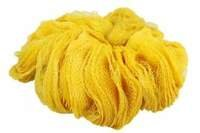 Rękaw siatkowy do pakowania warzyw i owoców - żółty, 0,38x100m (50 szt)