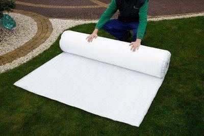 Agrowłóknina wiosenna biała 4,2x100m (21g) Wzmacniane Brzegi