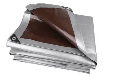 Bardzo gruba plandeka okryciowa srebrna 4x5m Gardenmax