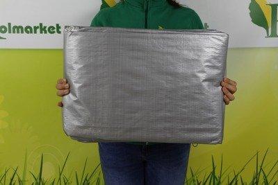 Bardzo gruba plandeka okryciowa srebrna 4x8m (130g)