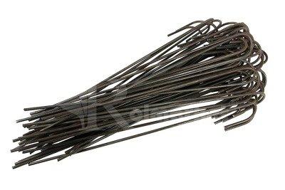 """Długie metalowe szpilki do mocowania agrotkaniny, agrowłókniny i geowłókniny, model """"J"""" 25cm - (500 szt.)"""