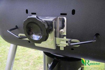 Duży grill ogrodowy na kółkach z pokrywą Mastergrill MG427