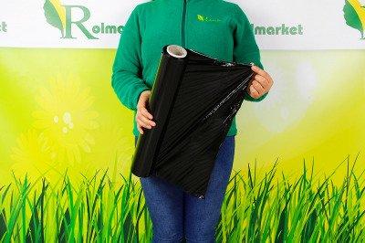 Folia stretch czarna 1,5 kg – do pakowania paczek i zabezpieczania ładunków (20 sztuk)