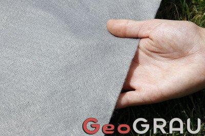Geowłóknina poliestrowa GeoGRAU 1,5x50m 120gr szara